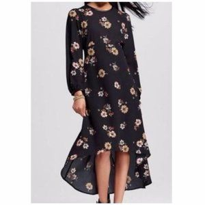 Who What Wear Floral Boho High Low Dress XS